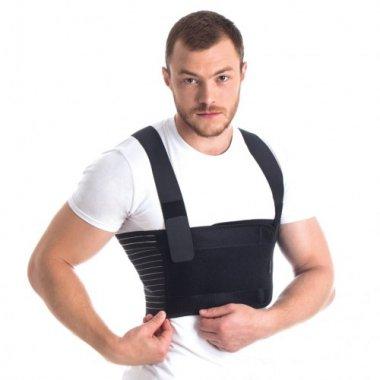 Бандаж для фиксации грудной клетки мужской  (пористый) Торос-Груп (тип 155-ч)