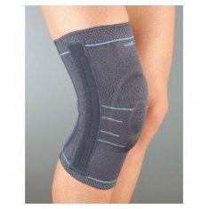 Бандаж на колено эластичный, силиконовое кольцо, 4 спиральных ребра Aurafix 114
