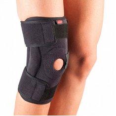 Бандаж на колено неопреновый, разъемный, с открытой чашечкой и шарнирами Aurafix 3104