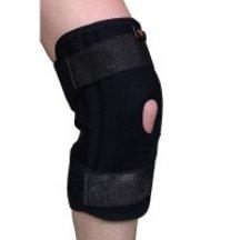 Универсальный бандаж для коленного сустава (с силиконовым кольцом, ребрами жесткости и дополнительными ремнями фиксациии) Armor ARK5103