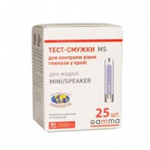 Тест полоски Gamma Mini MS, 25 шт