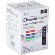 Тест-полоски Element Multi для измерения липидного профиля №10