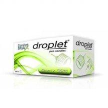 Иглы для инсулиновых шприц-ручек Droplet, 4 мм, 32G (0,23мм) №100