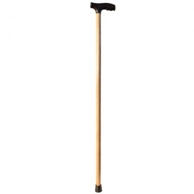 Трость деревянная с пластиковой ручкой MEDOK MED-01-005
