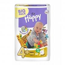 Подгузники детские Bella Happy Baby maxi plus 4+(9 кг-20 кг, 2 x 62 шт.)
