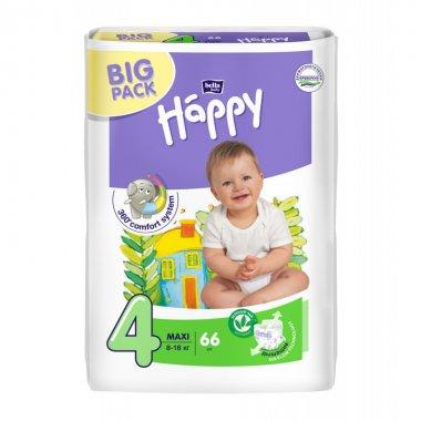 Подгузники детские Bella Happy Baby maxi 4 (8 кг-18 кг, 2 x 66 штук.)