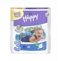 Подгузники детские Bella Happy Baby midi 3 (5 кг-9 кг, 2 x 72 штуки.)