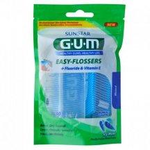 Зубная нить GUM Easy Flossers с фторидом, 30 штук
