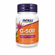 NOW FOODS VITAMIN C-500 CALCIUM ASCORBATE-C Нау Фудс Витамин C аскорбат кальция в капсулах №30
