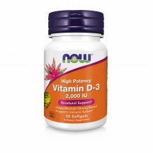 NOW FOODS VITAMIN D-3 2000 Нау Фудс D3 витамины в капсулах №30
