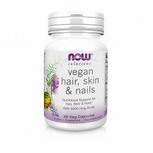 NOW FOODS VEGAN HAIR, SKIN & NAILS Нау Фудс витамины для волос, кожи и ногтей в капсулах №30
