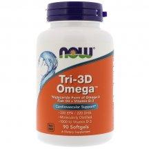 NOW FOODS TRI-3D OMEGA Нау Фудс Омега витамины в капсулах №30
