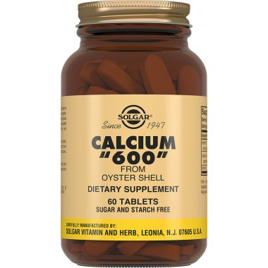 SOLGAR CALCIUM FROM OYSTER Солгар Кальций 600 из раковин устриц таблетки №60