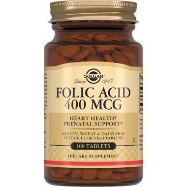 SOLGAR FOLIC ACID Cолгар Фолиевая кислота таблетки №100
