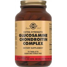 SOLGAR GLUCOSAMINE CHONDROITIN Солгар Глюкозамин с хондроитином плюс таблетки №75