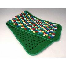 Аппликатор (коврик массажный с камнями) Fosta F 0811 цветной