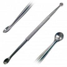Ложка хирургическая костная двусторонняя острая. Длина 153 мм. р.ч. 8 мм и 6,5 мм  (Л-82)