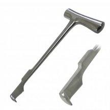 Нож-долото для продольного рассечения грудины по Lebsche. Длина 24,5 см  (Н-Д)