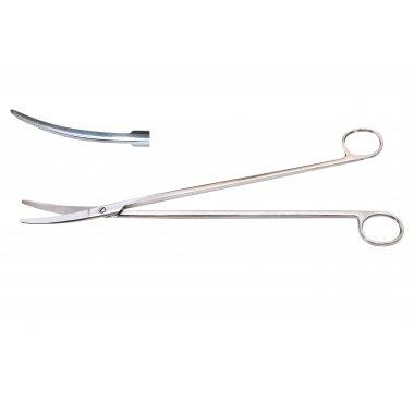 Ножницы для глубоких полостей изогнутые 28 см (Н-128)