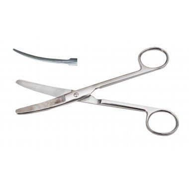 Ножницы тупоконечные верт изогнутые 17 см (Н-4)