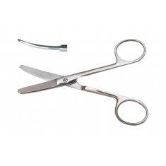 Ножницы верт изогнутые тупоконечные с твердым сплавом 14 см (Н-71)