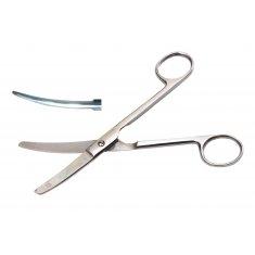 Ножницы верт изогнутые тупоконечные с твердым сплавом 17 см (Н-72)