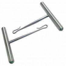 Ручки к пилам проволочным витым хирургическим 2шт. Длина 65 мм. Ширина 60 мм (РПО)