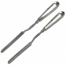 Рашпиль костный штыковидный. Размер 24,5 см х 13 мм (РШ-3)