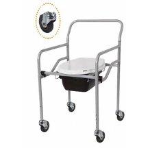 Кресло с санитарным оснащением, с колесиками, регулируемое  HEACO KT-771