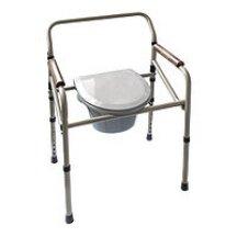 Кресло-стул с санитарным оснащением (регулируемое по высоте, на колесах, складное) RIDNI RD-CARE-T04 (KJT705)