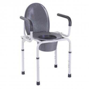 Стальной стул-туалет с откидными подлокотниками, OSD-RB-2107D