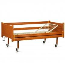 Медицинская кровать в дереве на колесах (2 секции), OSD-93
