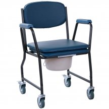 Стул-туалет на колесах с мягким сиденьем, OSD-MOD-WAVE
