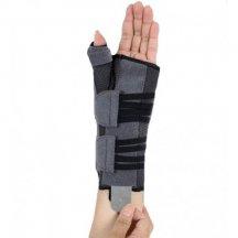 Бандаж для лучезапястного сустава и суставов большого пальца с анатомическими шинами (левый) ORTOP EH-403